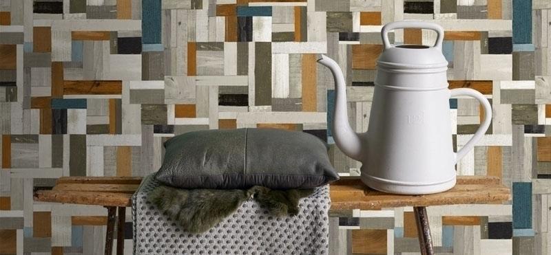 sloophout behang