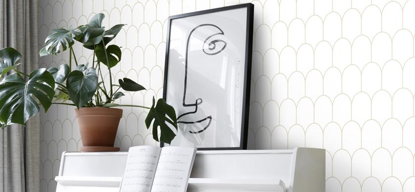 papel pintado art déco