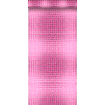 papel pintado puntos lunares psicodélicos rosa