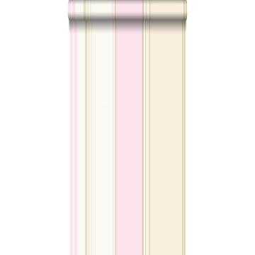 papel pintado rayas rosa suave