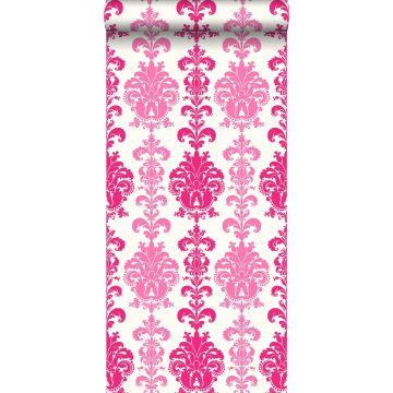 papel pintado barroco rosa