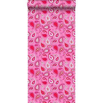 papel pintado paisley cachemir rosa caramelo