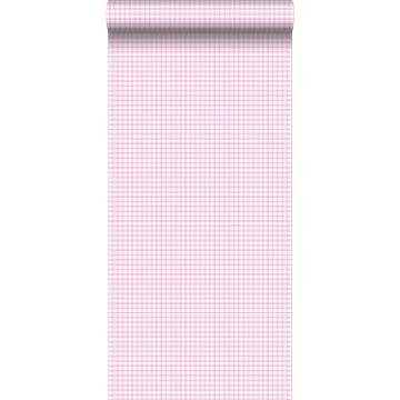 papel pintado rombo rosa suave