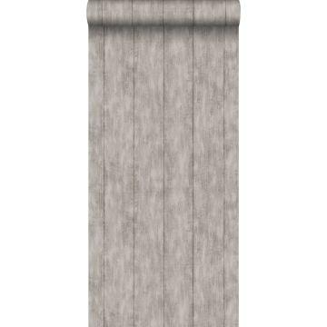 papel pintado madera de desecho gris pardo