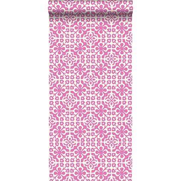 papel pintado piastrelle usurate rosa