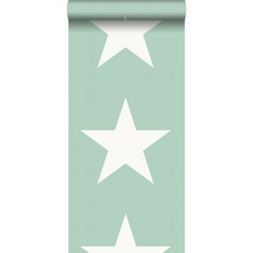 papel pintado estrella menta verde