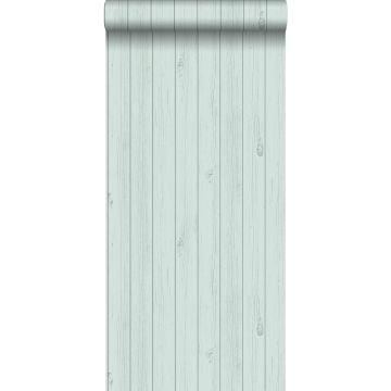 papel pintado tablas de madera estrechos vintage de madera recuperada verde menta pastel agrisado claro