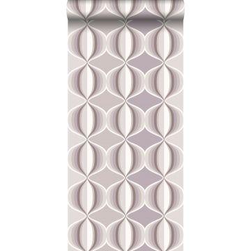 papel pintado delicia retro gris pardo