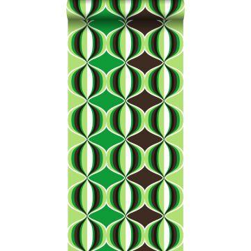 papel pintado delicia retro verde