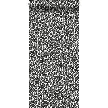 papel pintado pantera negro y blanco