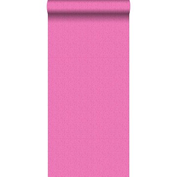 papel pintado bordado rosa