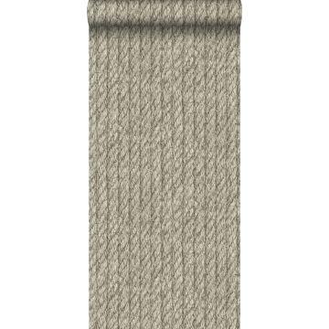 papel pintado cuerda gris pardo