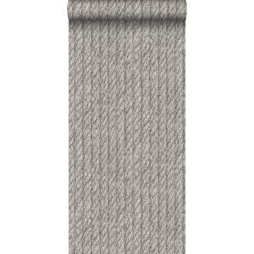 papel pintado cuerda gris oscuro