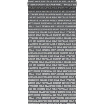 papel pintado textos de deportes gris oscuro