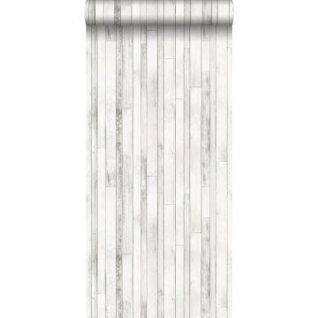 papel pintado madera de desecho blanco antiguo