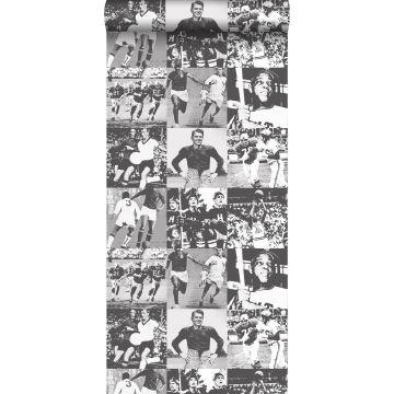 papel pintado héroes del deporte negro y blanco