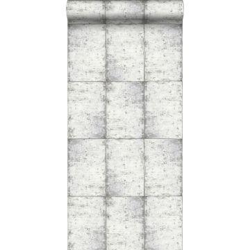 papel pintado láminas de zinc gris claro cálido
