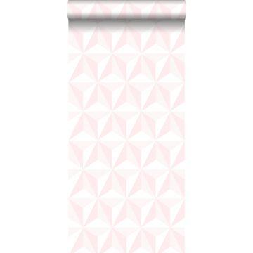 papel pintado 3D gráfico rosa claro