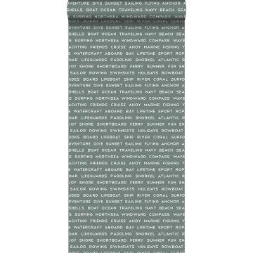 papel pintado textos marítimos de playa verde grisáceo
