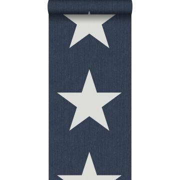 papel pintado estrellas sobre tela vaquera denim jeans azul oscuro