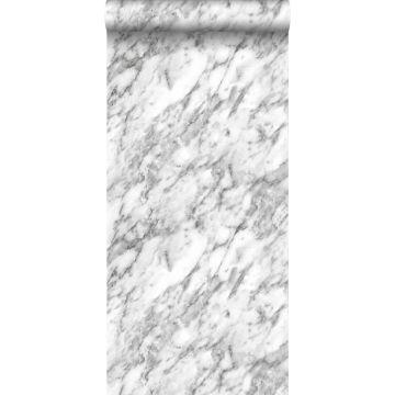 papel pintado marmol blanco y negro