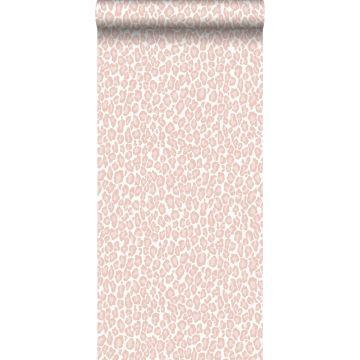 papel pintado piel de leopardo rosa suave