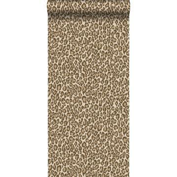 papel pintado piel de leopardo marrón