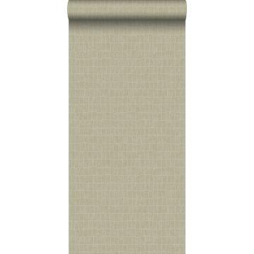 papel pintado piel de cocodrilo beige