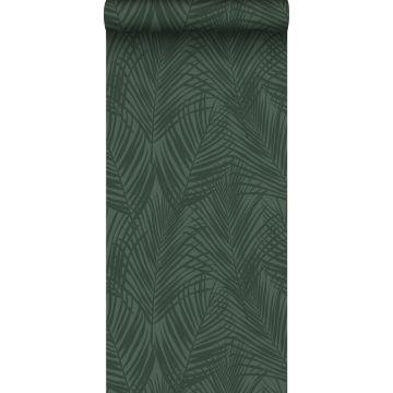papel pintado hojas de palmera verde oscuro