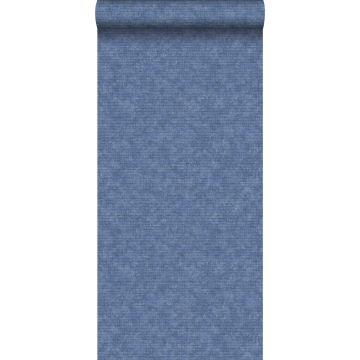 papel pintado liso azul