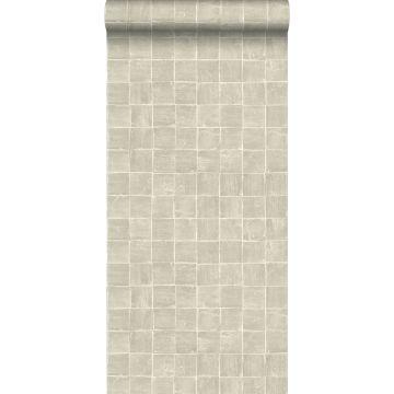 papel pintado motivo de azulejos cerval