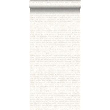 papel pintado texto beige sobre fondo blanco mixto