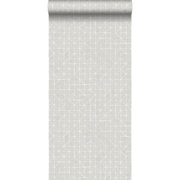 papel pintado formas geométricas gris pardo