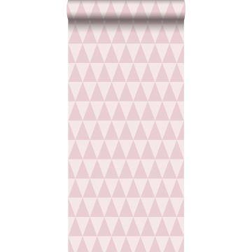 papel pintado triángulo geométrico gráfico rosa lila