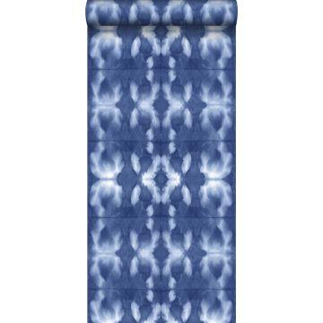 papel pintado diseño tie-dye Shibori azul añil vaquero intenso