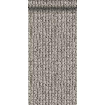 papel pintado efecto tejido gris cálido grisáceo