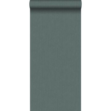 papel pintado liso con textura de tejido verde grisáceo