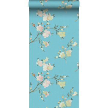papel pintado con textura eco flores de cerezo azul-Van-Gogh