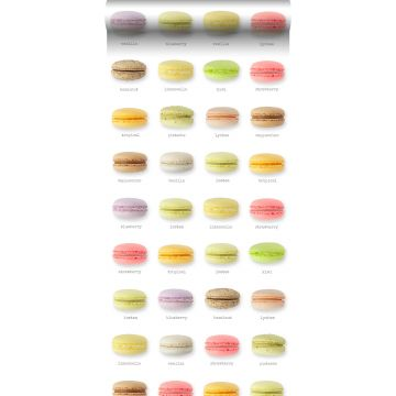 papel pintado XXL macarons multicolor
