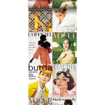 papel pintado XXL portadas de revistas multicolor