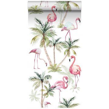 papel pintado XXL flamencos rosa