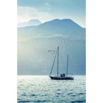 fotomural velero azul