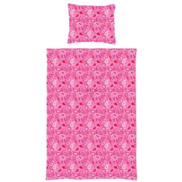 juego de funda nórdica individual paisley cachemir rosa caramelo