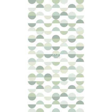fotomural semicírculos en estilo retro verde