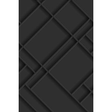 fotomural paneles de pared gris carbón
