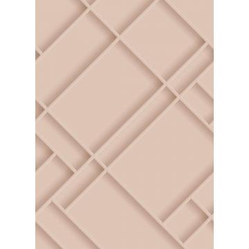 fotomural paneles de pared rosa suave
