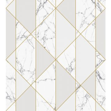 fotomural marmol blanco y negro, gris y oro