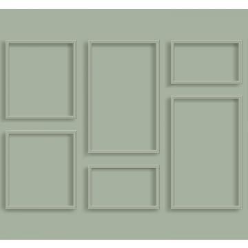 fotomural lambris verde grisáceo