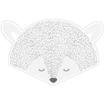 mural decorativo autoadhesivo cabezas de animales gris claro