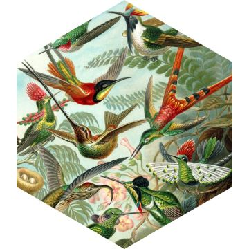 mural decorativo autoadhesivo pájaros verde selva tropical